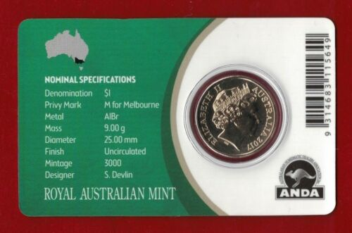 2017 Australia Mob of Roos $1 /'M/' Privy Mark Uncirculated Coin
