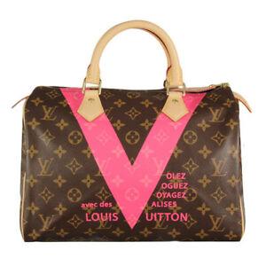 Louis Vuitton Bag LV Speedy Limited Edition V Monogram 30 Grenade Bag