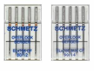 Chrome Plated Machine Needles by Organ ELx705 Size 80//12 Overlock Serger Needles