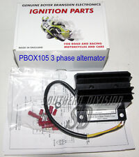 Boyer Powerbox Pbox105 regulator three phase alternator Norton Triumph drehstrom