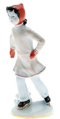 Girl - ice skater Leningrad Lomonosov Porcelain Factory (LFZ) figurine from 1960