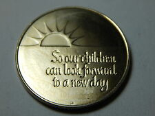Vintage Franklin Mint Peace Medal -So Our Children Can Look Forward To A New Day