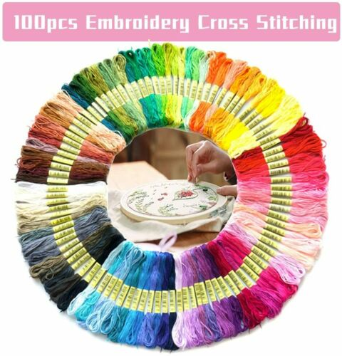 Magic Embroidery Pen Punch Needle Cross Stitch Threads Set for DIY Sewing Craft