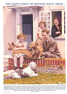 Royalty-1940-039-s-Queen-Mother-Princess-Margaret-King-George-V1-Princess-Elizabeth