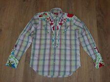 Christian Lacroix Homme western floral pearl button rare mens shirt size 39/15,5