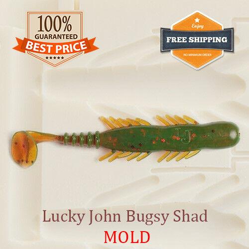 Lucky John Bugsy Shad Fishing Mold Swimbait Lure Bait Soft Plastic 71 mm