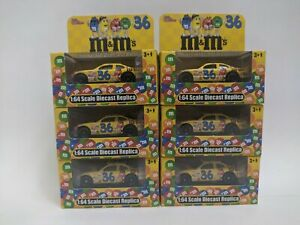 Lot-of-6-Nascar-Racing-Champions-M-amp-M-039-s-36-New-in-Box-1-64-Scale-Diecast-Replica