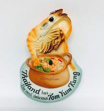 TOM YUM GOONG THAI FOOD 3D MAGNETS HOLDER RESIN FRIDGE SOUVENIR GIFT