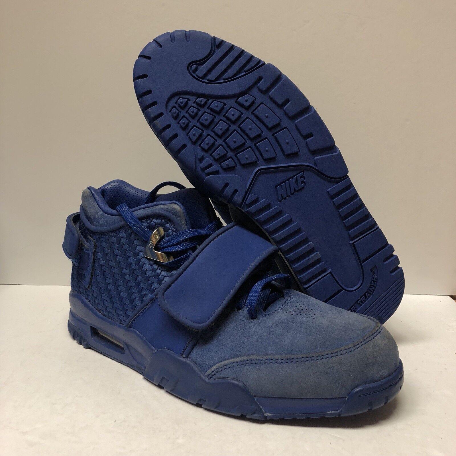 Authentic Nike Air Trainer Victor Cruz Size 8.5 Blue Suede (NO BOX) *Read Desc*