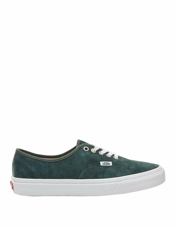 NEW Vans Unisex Authentic Pig Suede Darkest Spruce Green True White Sneaker shoe