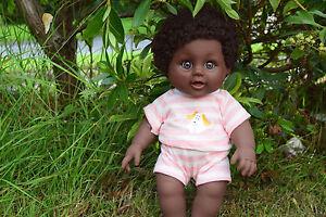 """12"""" James Afro African Black Interactive Baby Poupée Garçon 30 Cm-sammar Cadeaux-afficher Le Titre D'origine Nombreux Dans La VariéTé"""