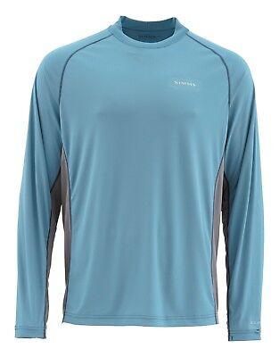Large Simms Solarflex Crewneck Shirt Blue Stream SALE /& Free US Shipping