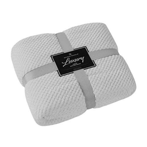Nouveau Luxe Popcorn Plaids Polaire Chaud Très Grand Canapé couvertures Double King Size