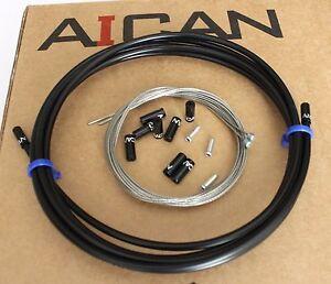 Aican-Premium-Velo-Shift-Derailleur-Cable-Housing-Set-Kit-JAGWIRE-Noir