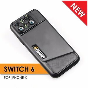 new style 93b58 ed2c0 Details about Ztylus Switch 6 Dual Optics 6-in-1 lens kit for iPhone X XS  fisheye tele macro