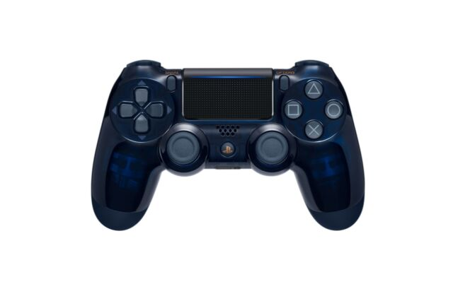 ps4 500 million limited translucent blue dualshock 4 wireless
