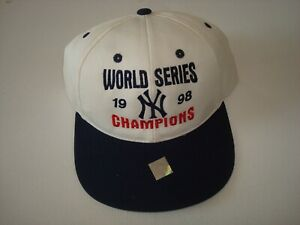 3a05275697b NEW YORK YANKEES 1998 CHAMPS W.S. NEW SCRIPT VINTAGE 90  039 S HAT ...