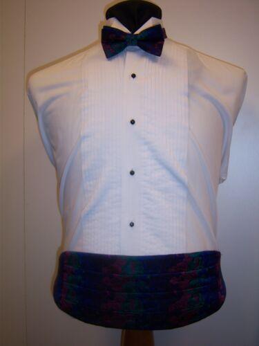Multi Floral Formal Cummerbund /& Bow tie set men/'s one size fits most