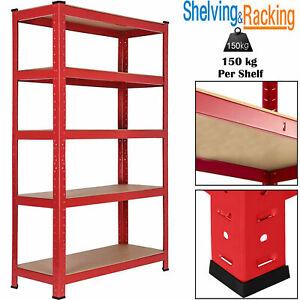 Garage-Shelves-Shelving-5-Tier-Racking-Boltless-Heavy-Duty-Storage-Shelf-150cm