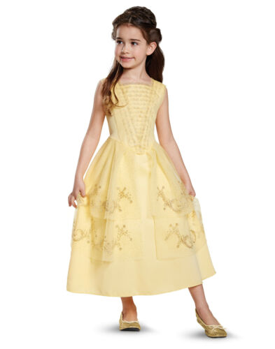 Disney Beauty And The Beast Belle Girls Classic Princess Ball Gown Costume-M