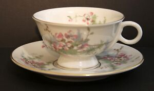 Vintage Theodore Haviland New York Cup & Saucer. Apple Blossom Pattern