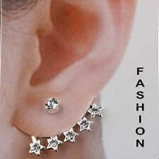 Trendy Lions Multi Stud Star Cuff Earrings
