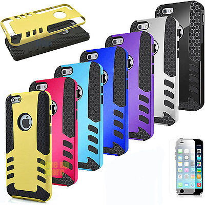 Rubber Armor Hybrid Best Impact Hard Case Cover For Apple iPhone 6 /6s / 6s Plus