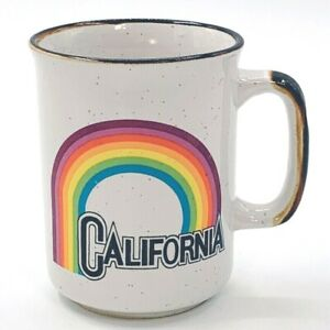 Vintage-California-Rainbow-Coffee-Mug-Gay-Pride-LGBTQ-Retro-Tea-Cup-Colorful