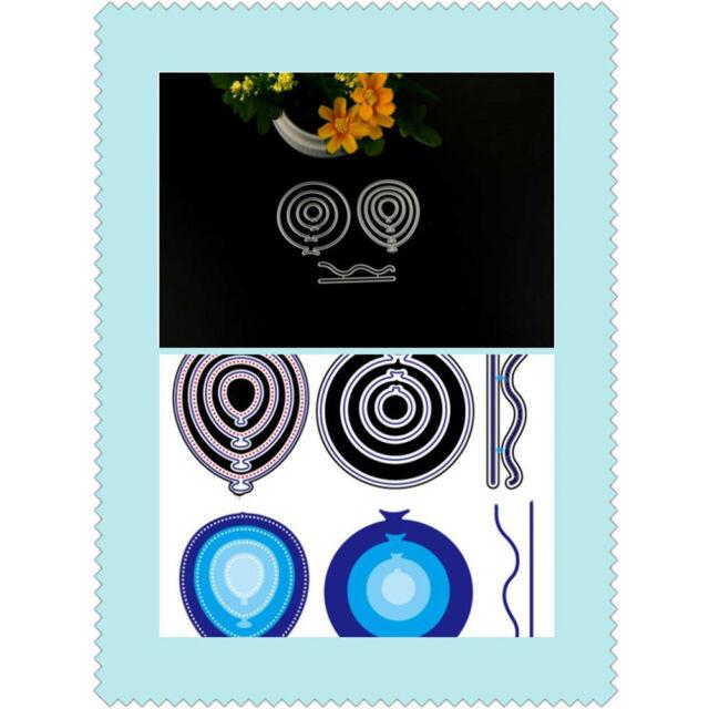 New Customized 9pcs Balloons Scrapbooking Cutting Die Book Photo Album Art Card&