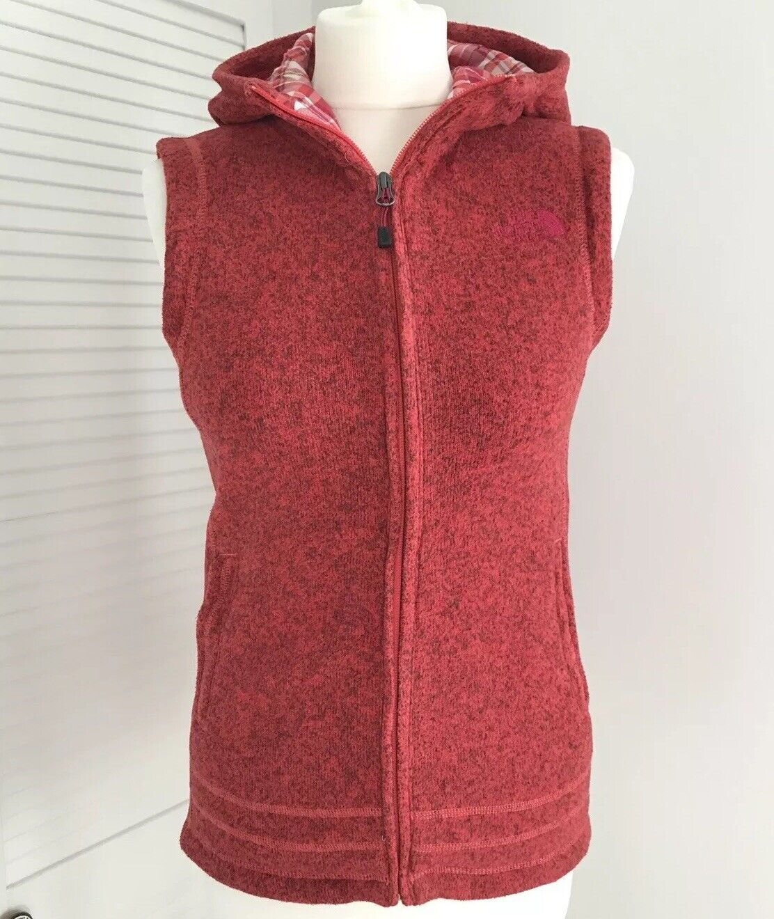 9a65b166acdcf7 The North Face Gilet Novelty Vest Sleeveless Marl rot Rosa damen Small  Crescent nvyazy2111-Mäntel & Westen