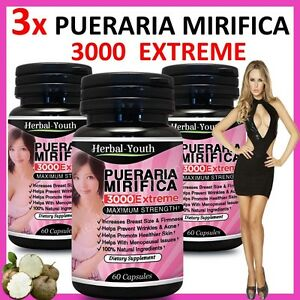 3-x-BOTTLES-PUERARIA-MIRIFICA-3000-BUST-FIRMING-BREAST-ENLARGEMENT-CAPSULES
