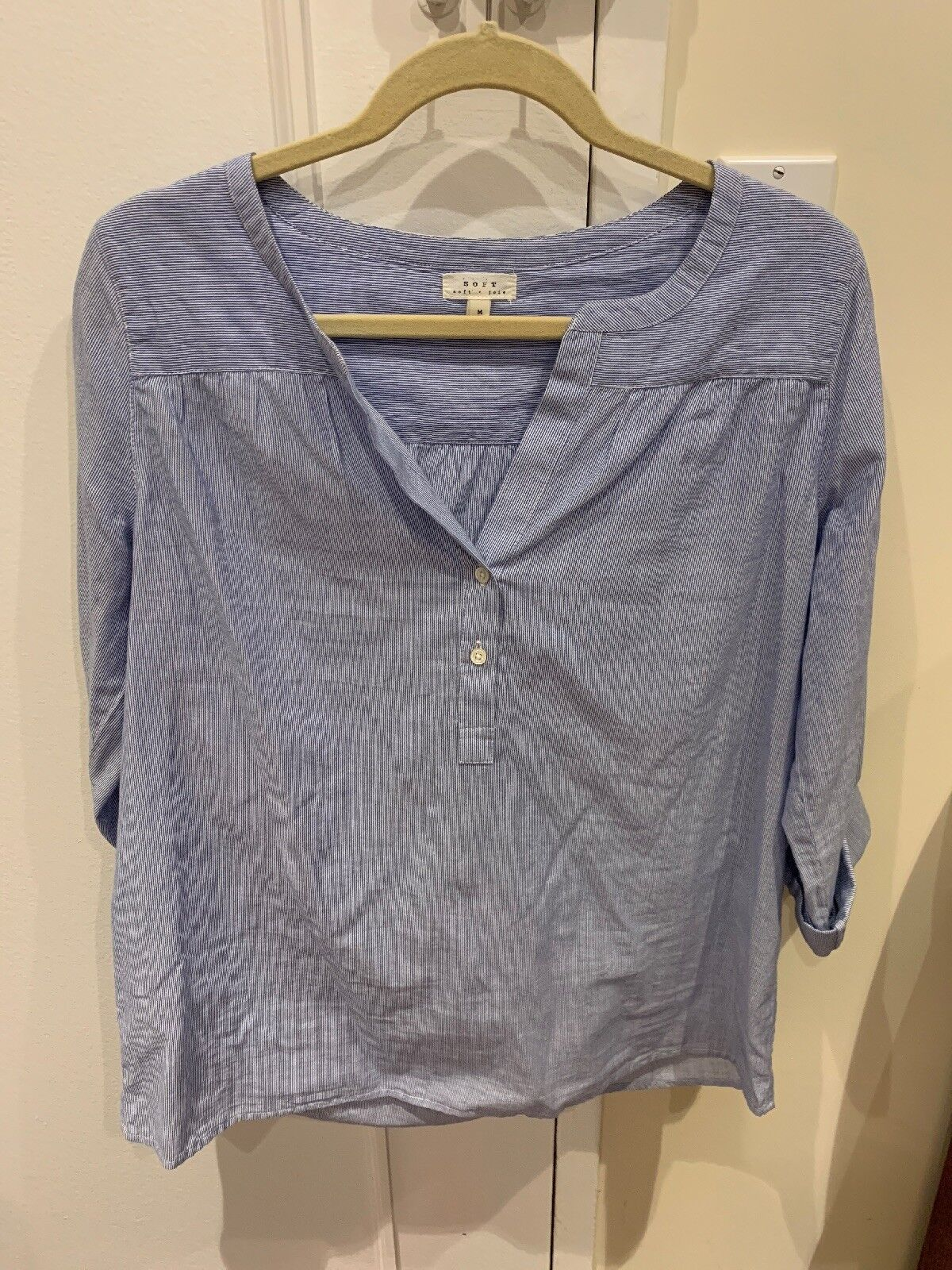 NWOT Soft Joie Pin Striped Long Sleeve Top, Größe M