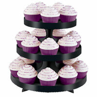 Halloween Black 3 Tier Treat Cupcake Stand By Wilton 0860 -