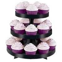 Halloween Black 3 Tier Treat Cupcake Stand By Wilton 0860 -
