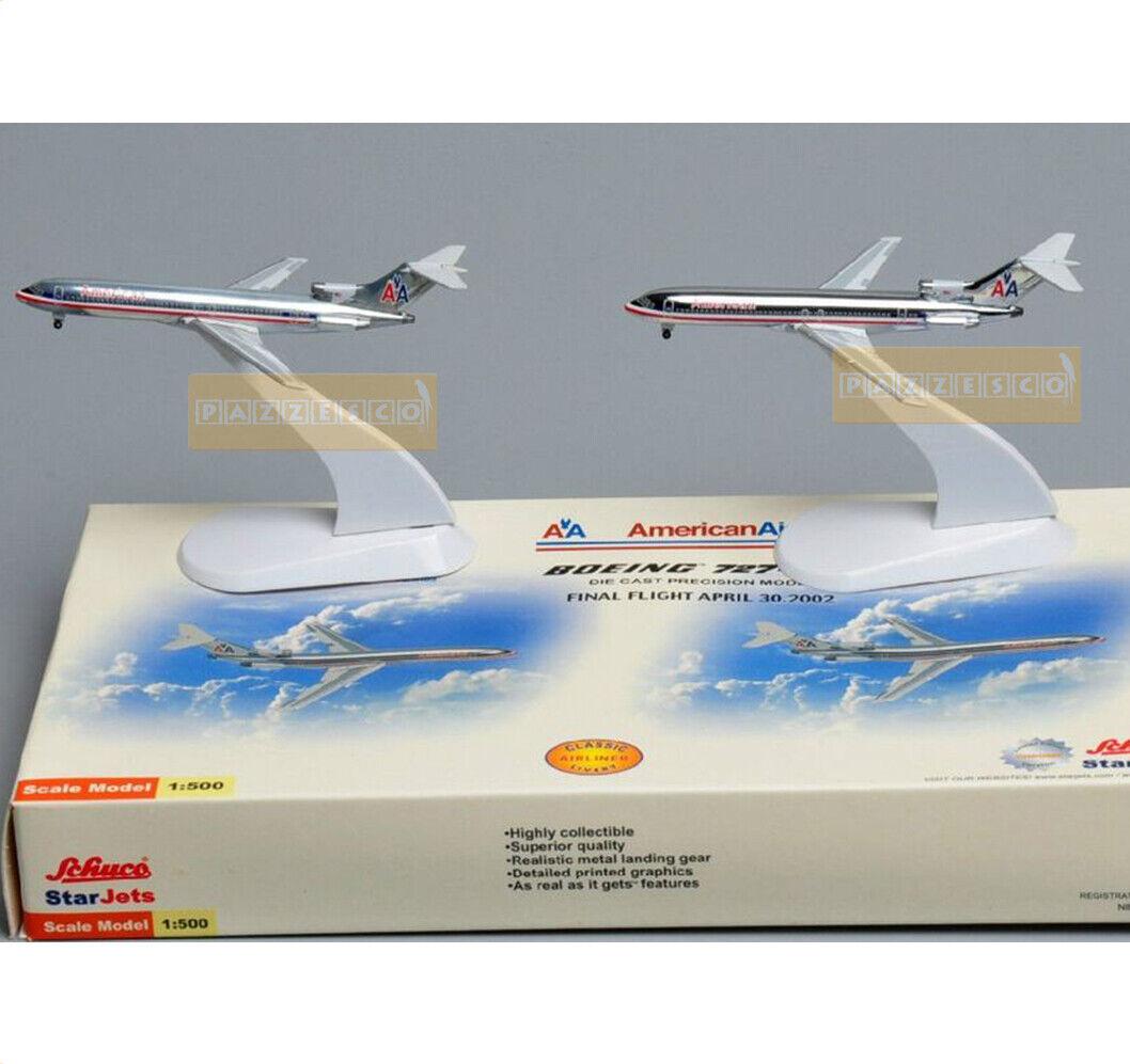 cómodo Avión 2 PC. American Airlines Boeing 727 200 200 200 1 500 Schuco Metal Fundido a Troquel  ventas en linea