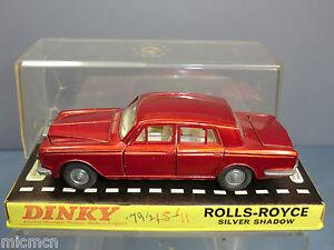 Vintage Dinky Toys Modèle No.158 Rolls Royce Limousine Shadow Vn Mib