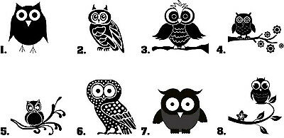 Waterslide Bird Nail Decals Set of 20 - Owl Silhouette - you choose