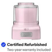 Cuisinart ICE-21PKFR Frozen Yogurt Ice Cream Maker, Pink Certified Refurbished