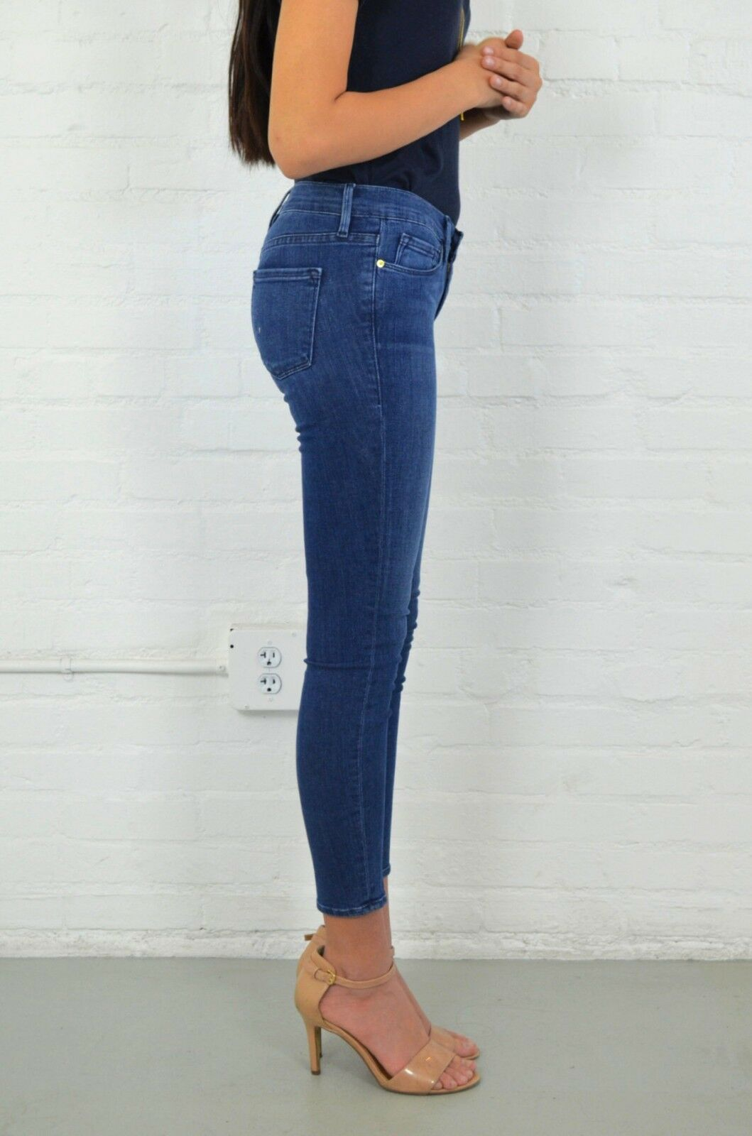 FRAME Le Skinny De Jeanne CROP in SUNNYSIDE Skinny Jeans 27  189 Stretch