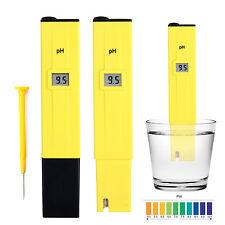 Digital Pocket PH Meter Water Tester Pen LCD Monitor Pool Aquarium Laboratory
