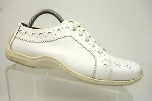 donald pliner white leather casual fashion driving