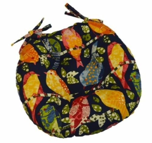 Choose Size In//Outdoor Garden Birds Round Tufted Bistro Cushion