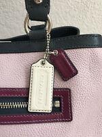 Coach Purse Handbag Brand With Tags Lilac Pink Blue Burgundy Shoulder Bag