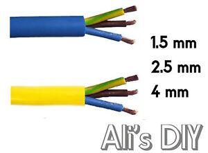Sensational Arctic 3 Core Flex Cable 3183A Blue Or Yellow Outdoor Caravan Wiring Cloud Hisonuggs Outletorg