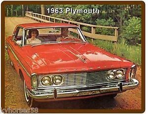 Tool Box  Magnet 1969  Plymouth GTX  Red  Auto Refrigerator