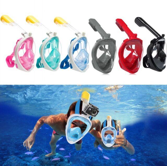 Anti-Fog Full Face Mask Swimming Underwater Diving Snorkel Scuba GoPro Glass New
