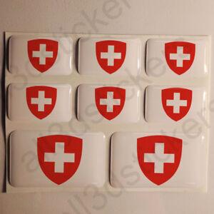 Pegatinas-Suiza-Escudo-de-Armas-Pegatina-Vinilo-Adhesivo-Resina-3D-Relieve-Coche