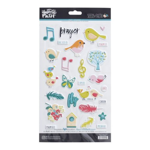 Birds Puff Set of 30 Puffy Stickers Illustrations of Faith Seeds of Faith