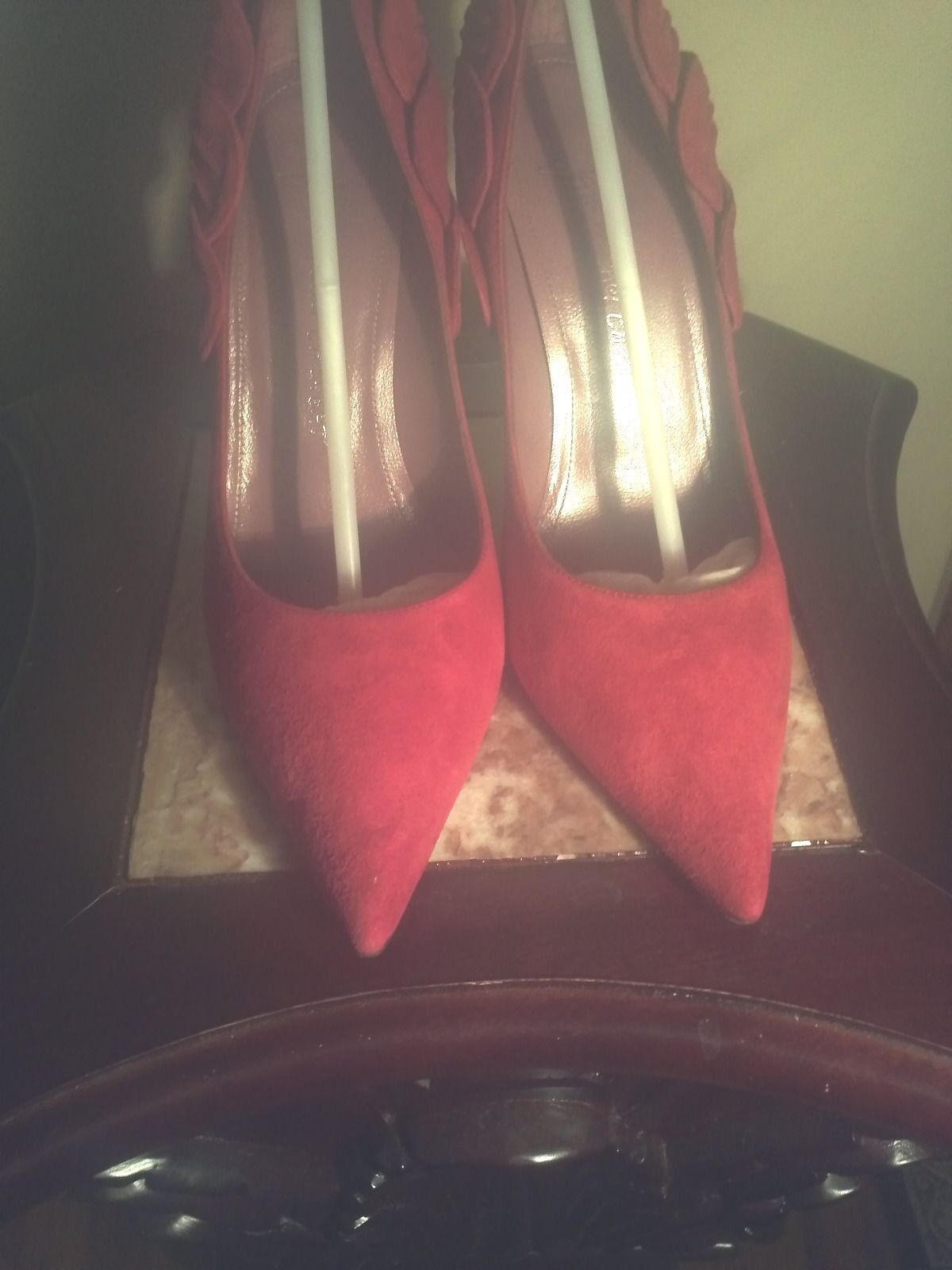 LOVELY - JEAN MICHEL MICHEL MICHEL CAZABAT  BLOOD  rot SUEDE AND LEATHER STILLETOS 8e4118