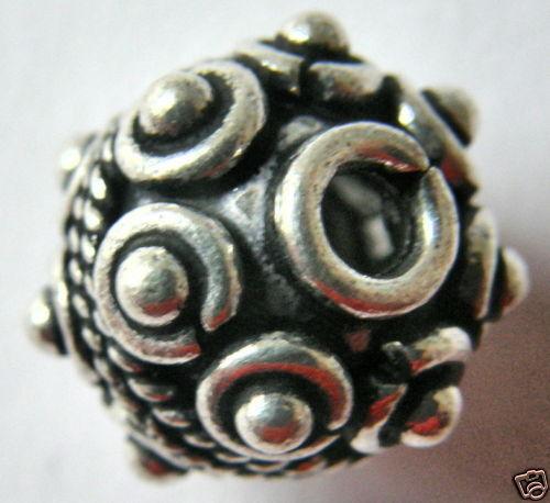 13 mm bola de cobre plateado ennegrecido 5711